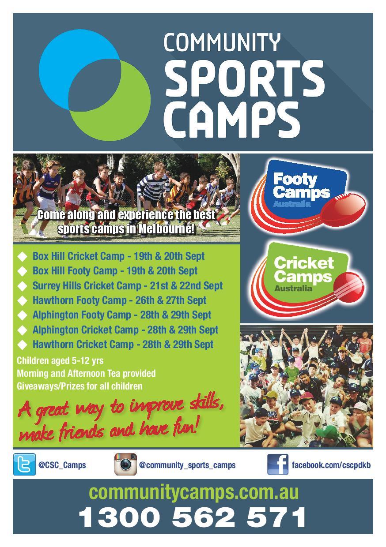 Footy Cricket Flyer A5-FB | BHRDCA